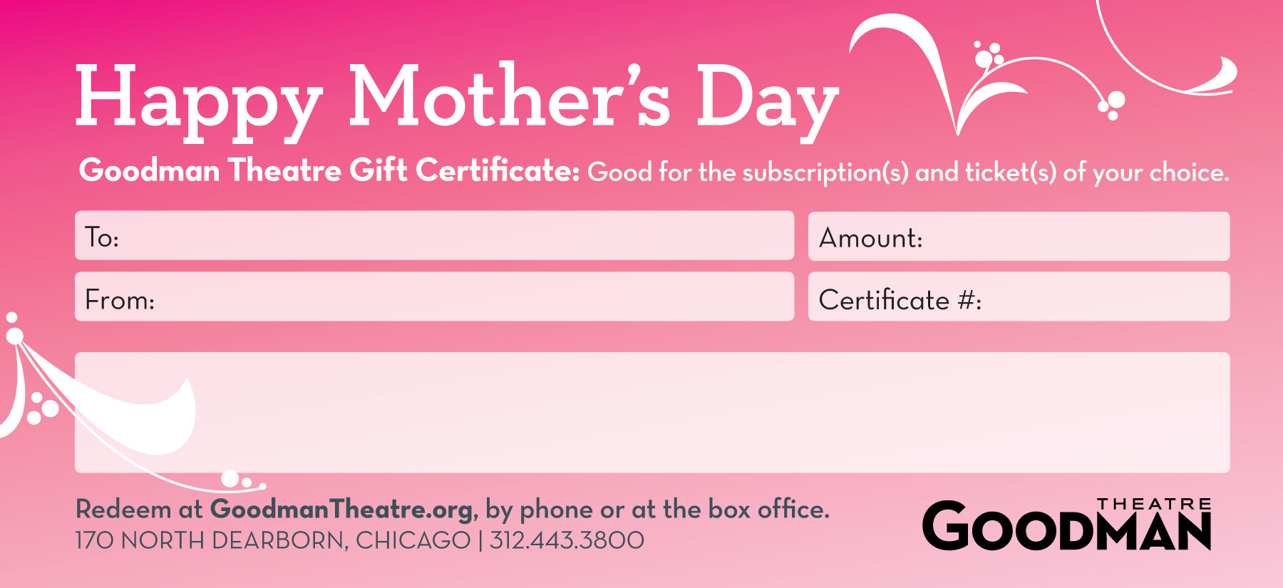 mother u0027s day gift certificate template