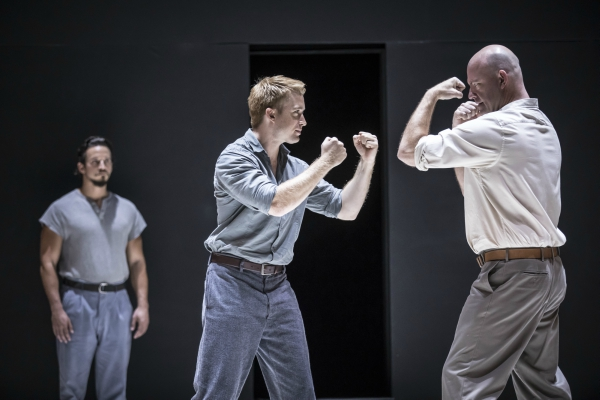 Daniel Abeles Rodolpho Brandon Espinoza Marco And Ian Bedford Eddie In A View From The Bridge By Arthur Miller Directed Ivo Van Hove