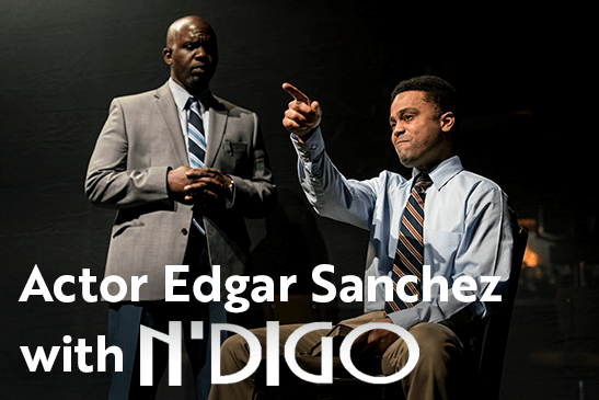 Edgar Sanchez with N'DIGO