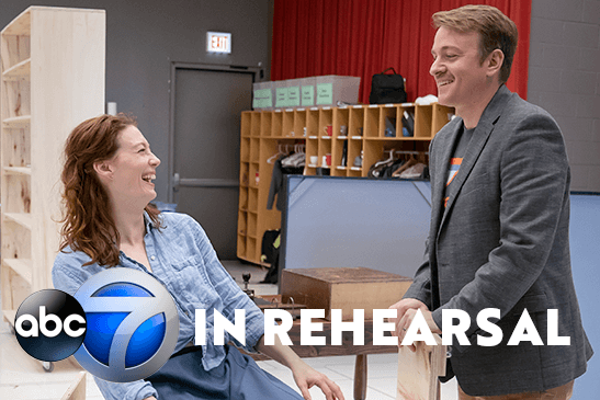 "Monica West and Geoff Packard in Rehearsal for ""The Music Man"""