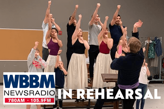 "The Company in Rehearsal for ""The Music Man"""