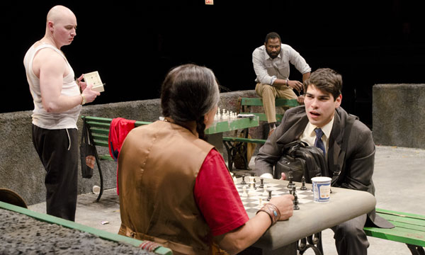 Rey talks chess with Jerome in Fish Men